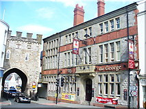 ST5393 : Chepstow - the Town Gate and the George by Colin Smith