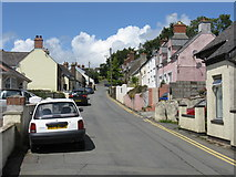SM9809 : Llangwm - Main Thoroughfare by Peter Whatley