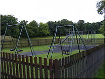 TM3864 : Children's Playground, Kelsale by Adrian Cable