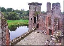 NY0265 : Inside Caerlaverock Castle by Ann Cook