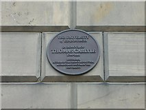 NT2572 : Thomas Carlyle plaque, Buccleuch Place by kim traynor