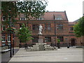 TA0928 : Andrew Marvell statue, Trinity Square, Hull by nick macneill