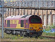 SE5703 : Engine in siding, Doncaster Station by Christine Matthews