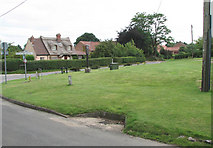 TG2902 : Junction of Church Road and Framingham Earl Lane by Evelyn Simak