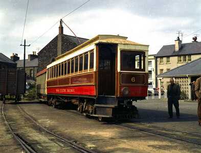 SC4594 : Ramsey station, Manx Electric Railway by Dr Neil Clifton
