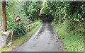 TQ1251 : High Barn Road - Steep Hill 1:7 by Adam Morse