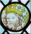 TM3288 : All Saints Church - medieval glass by Evelyn Simak