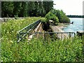 NY5454 : Culverted beck alongside Castle Carrock Reservoir by Rose and Trev Clough