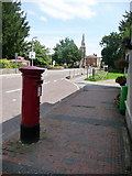 ST8026 : Gillingham: postbox № SP8 67, High Street by Chris Downer