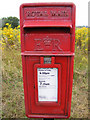 TM4458 : Hazlewood Hall Postbox by Geographer