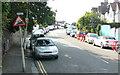 TQ3573 : Canonbie Road - Steep Hill 18% by Adam Morse