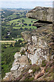 SK2575 : An interesting rock feature on Curbar Edge by Andrew Whale