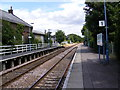 TM3863 : Platform at Saxmundham Station by Adrian Cable