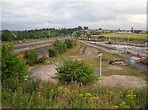 NY4154 : Old railway sheds at Upperby Depot by Rose and Trev Clough