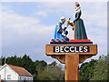 TM4289 : Beccles Town Sign by Adrian Cable