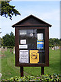 TG4700 : St.Edmunds Church, Fritton  Notice Board by Adrian Cable