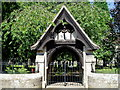 NZ1685 : Lych Gate at St Mary Magdalene Mitford by Eric Rosie