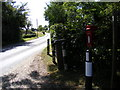 TM2867 : A1120 & Capons Green Postbox by Adrian Cable