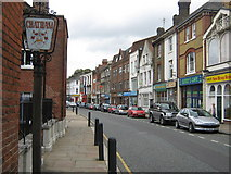 TQ7567 : Chatham Town Sign by David Anstiss