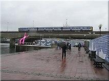 J3474 : Passing train, Belfast by Kenneth  Allen