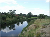 SK0418 : River Trent - upstream of the Rugeley Bypass by John M