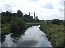 SK0418 : River Trent downstream of Station Road by John M