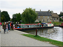 ST8260 : Canal boat on the way down the Kennet and Avon canal (1) by Brian Robert Marshall