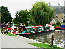 ST8260 : Canal boat on the way down the Kennet and Avon canal (2) by Brian Robert Marshall