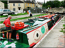 ST8260 : Canal boat on the way down the Kennet and Avon canal (5) by Brian Robert Marshall