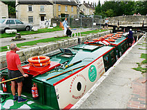 ST8260 : Canal boat on the way down the Kennet and Avon canal (6) by Brian Robert Marshall