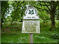 NY4024 : National Trust signage at foot of Great Mell Fell by Phil Catterall