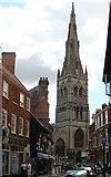 SK7953 : St Mary Magdalene's church from Kirkgate, Newark by Ruth Sharville
