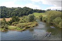 SO5819 : Raft race from Kerne Bridge looking downstream by Roger Davies