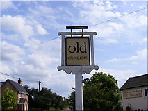 TM4160 : Old Chequers Public House sign by Geographer
