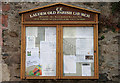 NT5347 : Lauder Old Parish Church notice board by Walter Baxter