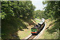 TQ3730 : No.592 Approaching Horsted House Bridge, Sussex by Peter Trimming