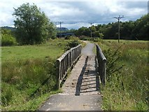 NS3977 : Footbridge on Cycle Route by Lairich Rig
