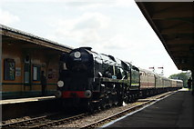 TQ3729 : Sir Archibald Sinclair Arrives at Horsted Keynes by Peter Trimming