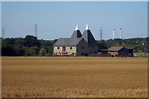 TQ9364 : Oast House at The Oast Golf Centre, Bapchild, Kent by Oast House Archive