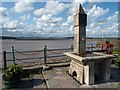 SD4578 : The drinking fountain on Arnside's promenade by Steve  Fareham