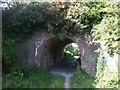 SN6080 : Footpath under the railway, Llanbadarn Fawr by John Lord