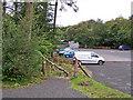 NG2548 : Car park for Dunvegan Castle by Richard Dorrell