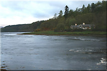 NM6947 : Castle Cottage and River Aline by Peter Bond