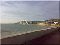 TR3140 : View of Shakespeare Cliff from the Admiralty Pier by Yusuf Gitay