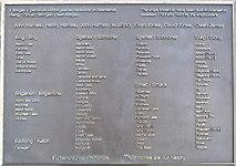 SN4562 : Commemorative Plaque near Harbour by RAY JONES