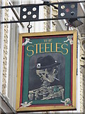 TQ2784 : (Another) sign for The Sir Richard Steele, Haverstock Hill, NW3 by Mike Quinn