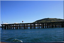SY6874 : Pier in Portland harbour by andrew auger