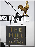 TQ2784 : Sign for The Hill, Haverstock Hill, NW3 by Mike Quinn