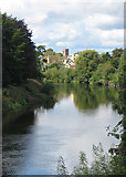 SO5139 : Wye upstream from Victoria Bridge viewpoint by Pauline E