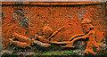 NS3408 : A gravestone detail at Kirkmichael Parish Churchyard by Walter Baxter